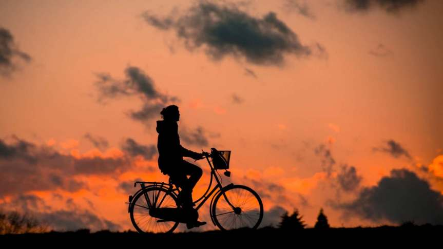 woman on bike silhouette-fitness-bless-you-bike-37836