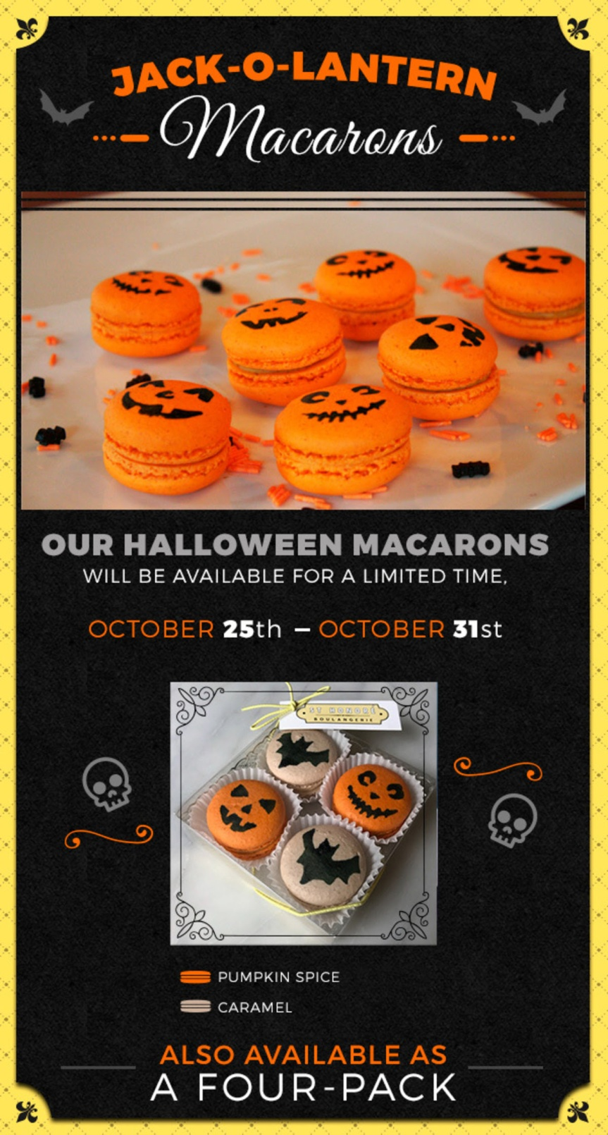 Halloween macrons Saint Honore